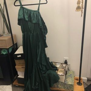 Nwot green satin ASOS gown